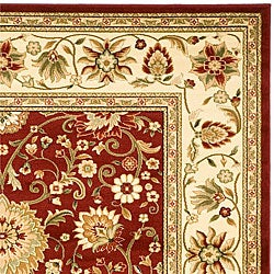 Safavieh Lyndhurst Collection Majestic Red/ Ivory Rug (6' x 9')