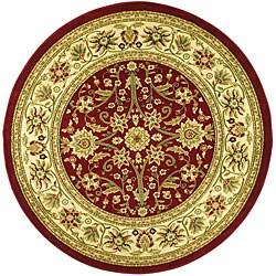Safavieh Lyndhurst Traditional Oriental Red/ Ivory Rug (5'3 Round)