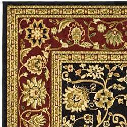 Safavieh Lyndhurst Traditional Oriental Black/ Red Runner (2'3 x 8') - Thumbnail 1