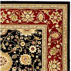 Safavieh Lyndhurst Traditional Oriental Black/ Red Rug (6' x 9')