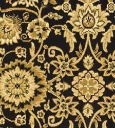 Safavieh Lyndhurst Traditional Oriental Black/ Red Rug (5'3 Round) - Thumbnail 1