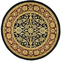"Safavieh Lyndhurst Traditional Oriental Black/ Red Rug - 5'3"" x 5'3"" round"