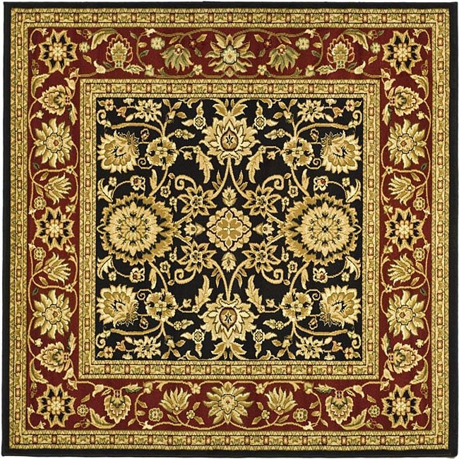 Lyndhurst Collection Majestic Black/ Red Rug (6 Square)