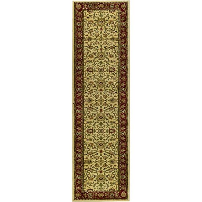 Safavieh Lyndhurst Traditional Oriental Ivory/ Red Runner (2'3 x 12')