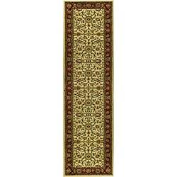Safavieh Lyndhurst Traditional Oriental Ivory/ Red Runner (2'3 x 14') - Thumbnail 0