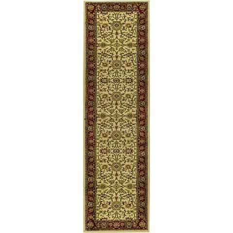 "Safavieh Lyndhurst Traditional Oriental Ivory/ Red Runner (2'3 x 16') - 2'3"" x 16'"