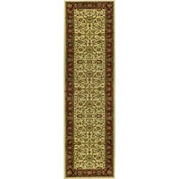 "Safavieh Lyndhurst Traditional Oriental Ivory/ Red Runner (2'3 x 16') - 2'3"" x 16'"