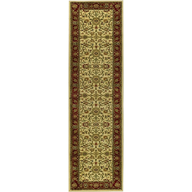 Safavieh Lyndhurst Traditional Oriental Ivory/ Red Runner (2'3 x 8')