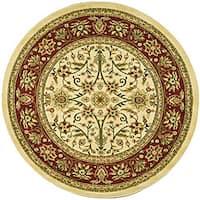 "Safavieh Lyndhurst Traditional Oriental Ivory/ Red Rug - 5'3"" x 5'3"" round"