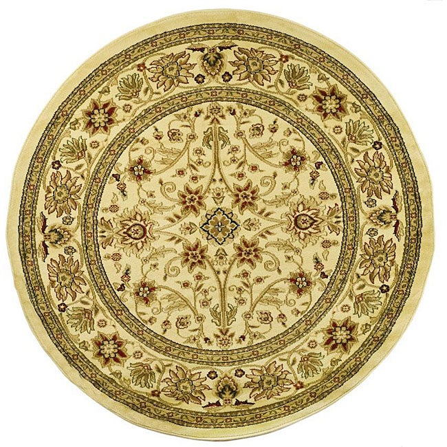 Safavieh Lyndhurst Traditional Oriental Ivory/ Ivory Rug (8' Round) - Thumbnail 0