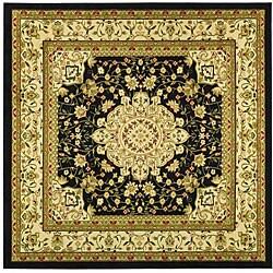 Safavieh Lyndhurst Traditional Oriental Black/ Ivory Rug (8' Square)