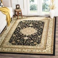 Safavieh Lyndhurst Traditional Oriental Black/ Ivory Rug (8' Square) - 8' Square