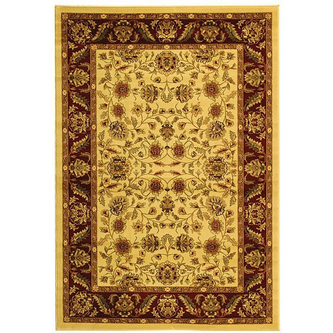 Lyndhurst Collection Tabriz Ivory/ Red Rug (6 X 9)