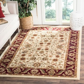 Safavieh Lyndhurst Traditional Tabriz Ivory/ Red Rug (6' x 9')