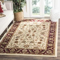 Safavieh Lyndhurst Traditional Tabriz Ivory/ Red Rug - 6' x 6' Square