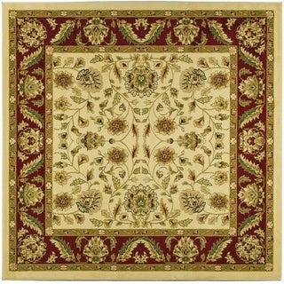 Safavieh Lyndhurst Traditional Tabriz Ivory/ Red Rug (8' Square)