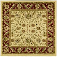 Safavieh Lyndhurst Traditional Tabriz Ivory/ Red Rug - 8' x 8' Square