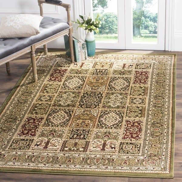 Safavieh Lyndhurst Traditional Oriental Green/ Multi Rug (6' x 9')