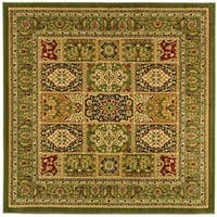 Safavieh Lyndhurst Traditional Oriental Green/ Multi Rug - 6' x 6' Square