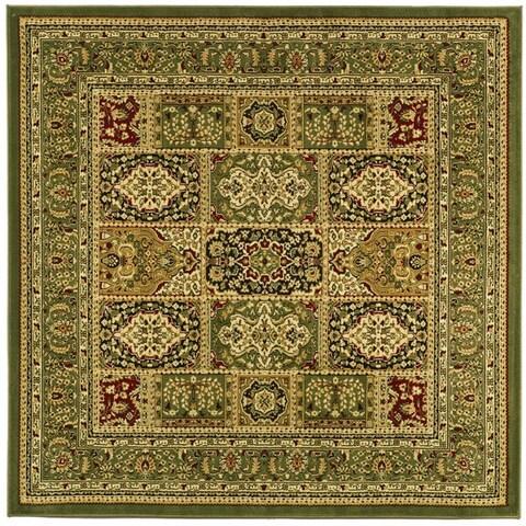 Safavieh Lyndhurst Traditional Oriental Green/ Multi Rug - 8' x 8' Square