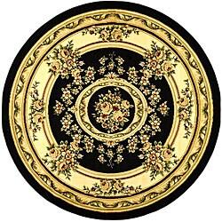 Safavieh Lyndhurst Traditional Oriental Black/ Ivory Area Rug (8' Round) - 8' Round - Thumbnail 0