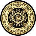 Safavieh Lyndhurst Traditional Oriental Black/ Ivory Area Rug (8' Round) - 8' Round
