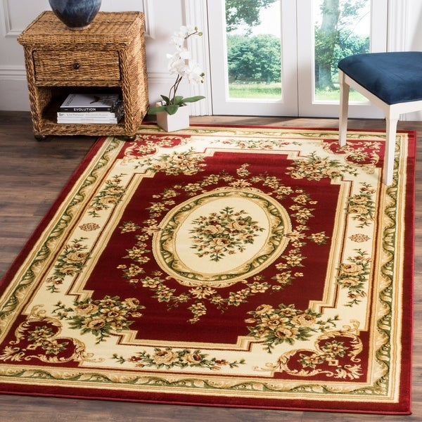 Safavieh Lyndhurst Traditional Oriental Red/ Ivory Rug - 8' X 11'