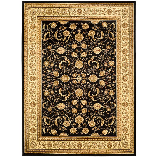 Lyndhurst Collection Black/ivory Rug (8 X 11)