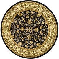 Safavieh Lyndhurst Traditional Oriental Black/ Ivory Rug - 8' x 8' Round