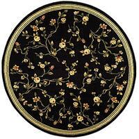 """Safavieh Lyndhurst Traditional Oriental Black Rug - 5'3"""" x 5'3"""" round"""