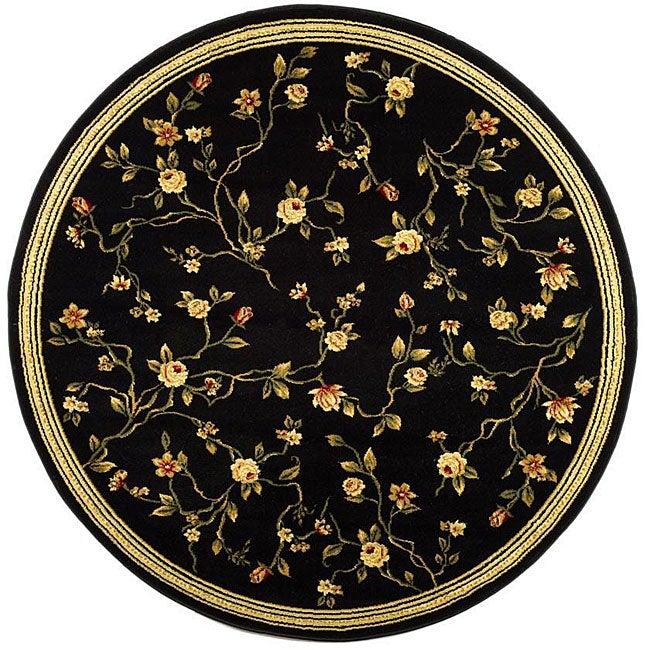 Safavieh Lyndhurst Traditional Oriental Black Rug - 8' x 8' Round