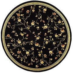 Safavieh Lyndhurst Traditional Oriental Black Rug - 8' x 8' Round - Thumbnail 0