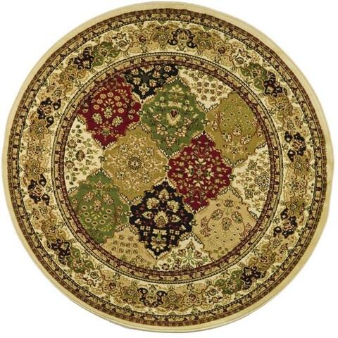 Safavieh Lyndhurst Traditional Oriental Multicolor/ Ivory Rug - 8' x 8' Round
