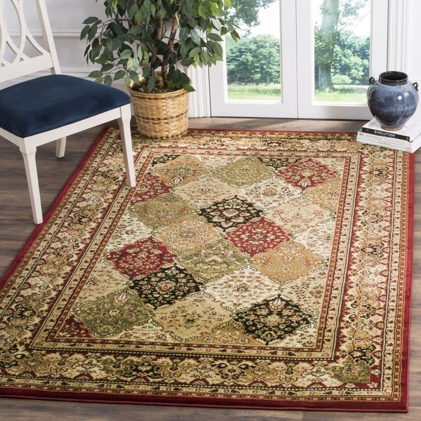 Safavieh Lyndhurst Traditional Oriental Multicolor/ Red Rug (6' x 9')