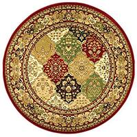 "Safavieh Lyndhurst Traditional Oriental Multicolor/ Red Rug - 5'3"" x 5'3"" round"