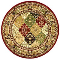 Safavieh Lyndhurst Traditional Oriental Multicolor/ Red Rug - 8' x 8' Round