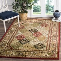 Safavieh Lyndhurst Traditional Oriental Multicolor/ Red Rug - 8' x 8' Square