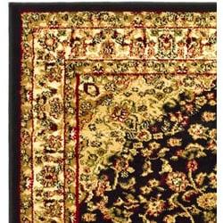 Safavieh Lyndhurst Traditional Oriental Black/ Ivory Rug (5'3 x 7'6) - Thumbnail 1