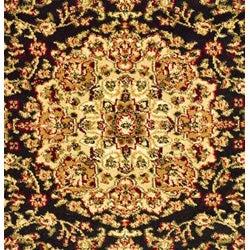 Safavieh Lyndhurst Traditional Oriental Black/ Ivory Rug (5'3 x 7'6) - Thumbnail 2