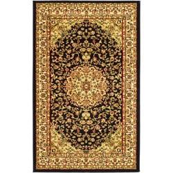 Safavieh Lyndhurst Traditional Oriental Black/ Ivory Rug (5'3 x 7'6) - Thumbnail 0