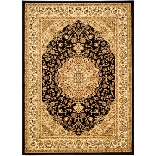 Safavieh Lyndhurst Traditional Oriental Black/ Ivory Rug - 8' X 11'