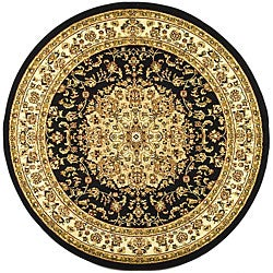 Safavieh Lyndhurst Traditional Oriental Black/ Ivory Area Rug (5'3 Round)
