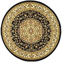 "Safavieh Lyndhurst Traditional Oriental Black/ Ivory Area Rug - 5'3"" x 5'3"" round"