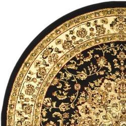 Safavieh Lyndhurst Traditional Oriental Black/ Ivory Rug (8' Round) - Thumbnail 1