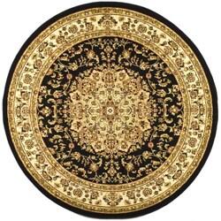 Safavieh Lyndhurst Traditional Oriental Black/ Ivory Rug (8' Round)