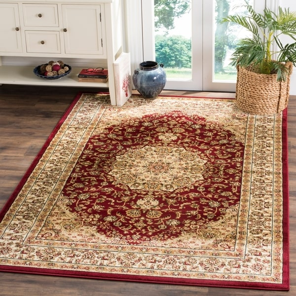 Safavieh Lyndhurst Traditional Oriental Red/ Ivory Rug - 5'3 x 7'6