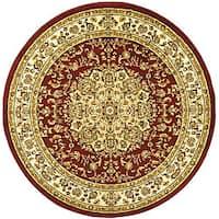 Safavieh Lyndhurst Traditional Oriental Red/ Ivory Rug - 8' x 8' Round