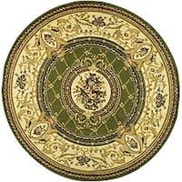 Safavieh Lyndhurst Traditional Oriental Sage/ Ivory Rug - 8' x 8' Round