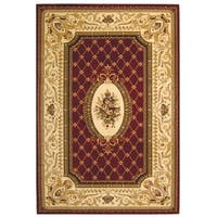 "Safavieh Lyndhurst Traditional Oriental Red/ Ivory Rug - 5'3"" x 7'6"""