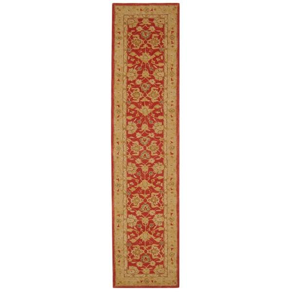 Safavieh Anatolia Handmade Red / Ivory Wool Runner (2'3 x 8')